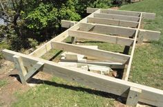 How to Build a Post beam shed foundation on a slope
