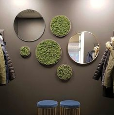 Moss Wall Art, Mirror Wall Art, Outdoor Walls, Autocad, Wall Design, Industrial Design, Projects To Try, Girly, Living Room