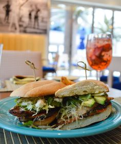 Refuel with Overlook Grill's Ancho Chicken Torta Sandwich, made with avocado, cotija cheese, veggies and black beans. Mmm. #VegasEats