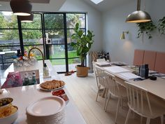 Our Fabulous House Tour in Evening Edition Side Return Extension, Extension Designs, House Extensions, Open House, House Tours, This Is Us, Table Settings, New Homes, Loft