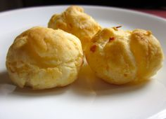 Pão de Queijo Vegano / Vegan Brazilian Cheese Bread  Brazilian Cheese Bread (pão de queijo) is a great treat: gooey, warm little breads full of flavor. As their name suggests, they are full of cheese, and eggs, too, but the real secret to their unique texture is tapioca flour; this starchy flour creates all the texture in the bread.