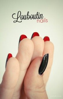 Double Sided Nail Colour.. So is this the new style, not the first time I've seen this.