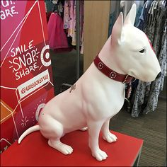 """Bullseye®, the Target® mascot, is perfect enticement for this """"Pose and… Signage, Target, Retail, Selfie, Store, Dogs, Red, Color, Stuff Stuff"""