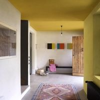 Yellow on the bedroomceiling. I think it's super funky!! Creations Collectie - Flexa #verf #geel