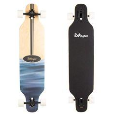 Rift Ripple Drop Through Longboard Drop Deck Longboard, Bamboo Longboard, Drop Through Longboard, Skateboard Logo, Board Skateboard, Skateboard Girl, Cool Longboards, Bamboo Decking, Longboard Design