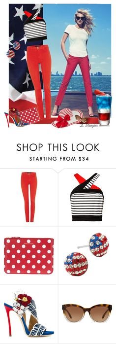"""""""Happy Fourth of July!!"""" by deborah-strozier ❤ liked on Polyvore featuring J Brand, Comme des Garçons, Dsquared2 and Michael Kors"""