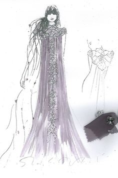 """Rapunzel by Jenny Packham  Harrods - """"A magical dress in pale grey adorned with incredible beading that should never be locked away."""""""