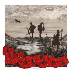 Commissioned by Poppy Scotland as their World War One Armistice Centenary image, Jacqueline's painting, Scotland Remembers, reflects the distinctive Poppy Scotland remembrance poppy and commemorates the 100 years since the end of WWI. Military Sleeve Tattoo, Scotland Tattoo, Remembrance Day Art, Soldier Silhouette, Original Paintings, Original Art, Armistice Day, Royal Marines, World War One