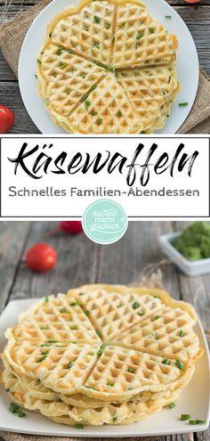 Herzhafte Waffeln (Grundrezept) These cheese waffles are quick to prepare; a simple but special dinner for the whole family. Or you make the spicy waffles for a leisurely brunch. The hearty waffle dou Cheese Waffles, Savory Waffles, Best Pancake Recipe, Le Diner, Pork Chop Recipes, Salad Ingredients, Cheese Recipes, Cooking Time, Breakfast Recipes