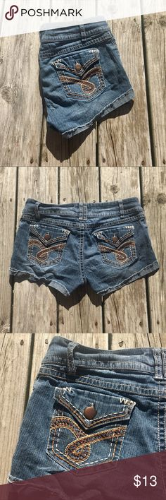 SO Denim Junior's Jean Shorts {Size 11} SO jean shorts. Two front and two back pockets. Front button closure with zipper. Great pair of shorts for summer!  Size 11. Material is 59% ramie, 23% cotton, 17% polyester, & 1% spandex. SO Shorts Jean Shorts