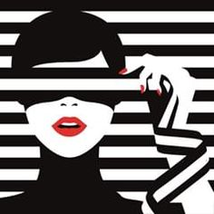 Malika Favre - Playing with stripes in the latest set of illustrations created for Sephora window displays across Europe