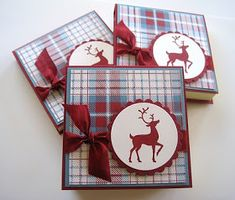 Deb's Card Buffet: Christmas Post It Pads