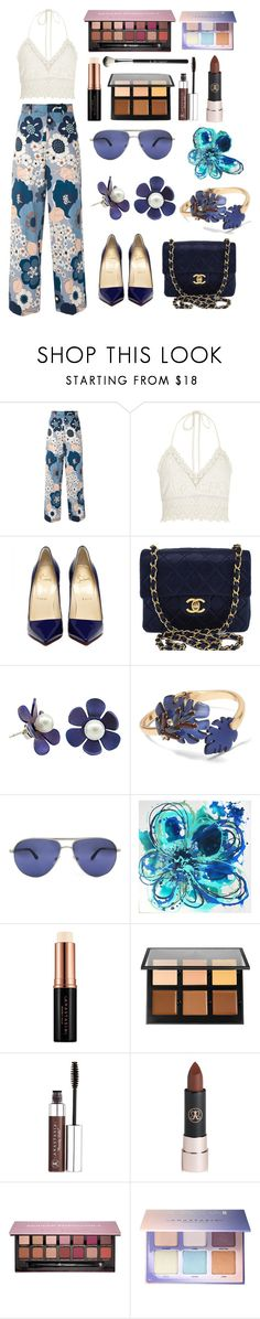 """""""#flowerpower x #abh"""" by nuymar ❤ liked on Polyvore featuring Chloé, River Island, Chanel, Banana Republic, Persol and Anastasia Beverly Hills"""