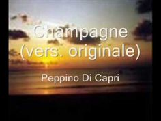 """Italian music. the neopolitan singer  Peppino di Capri sings the original version of his song """"champagne"""". this video clip is from youtube.com and shows a still shot while the song plays in the background. out of all the times that I have heard peppino di capri sing this song, I feel that this is the best performance of it that I have ever heard. I absolutely love this song!!! it remains as romantic now as it was then..."""