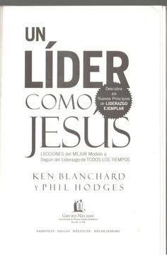 UN LIDER COMO JESUS EPUB DOWNLOAD