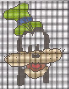 each square = maybe 10 Needlepoint Patterns, Counted Cross Stitch Patterns, Plastic Canvas Crafts, Plastic Canvas Patterns, Lego Mosaic, Stitch Cartoon, Cross Stitch For Kids, Pattern Pictures, Mickey Mouse And Friends