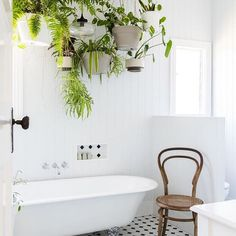 Pin discovered by Laura Bradbury www.laurabradbury.com Closing our eyes and picturing this space, in hopes our bathroom will magically become just as dreamy as this one. Link in bio for more. (Image: @hannahpuechmarin | Home: @thekatieday) #Regram via @apartmenttherapy