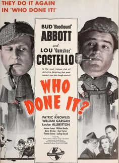 Who Done It? (1942) - Abbott and Costello -Motion Picture Herald