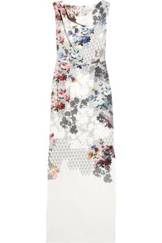 Floral-print stretch-silk gown by Jonathan Saunders