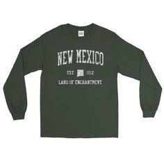 9b4cfa66365 Vintage New Mexico NM Adult Long Sleeve T-Shirt (Unisex) - JimShorts  Patriotic