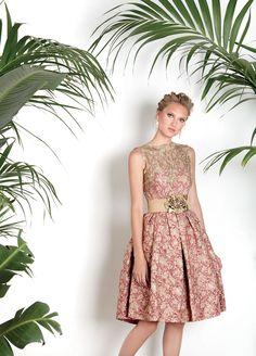Vestidos de Fiesta Matilde Cano ¡nueva colección 2017! - Vestidos de fiesta, vestidos para boda, Vestido brocado cuerpo dorado