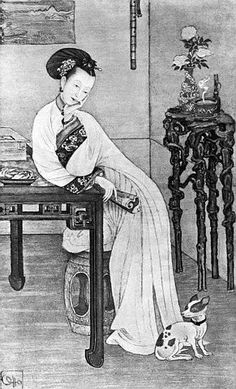 The Qing Dynasty Ci-Xi Dowager Empress of China at the time being the Imperial Concubine Yi