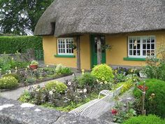 Ireland: I loved these thatched roof cottages in Adair