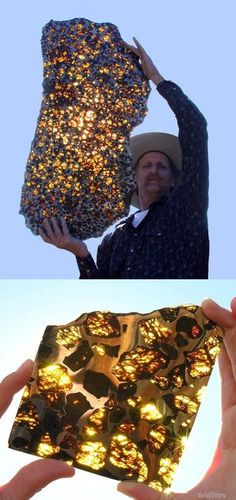 Когда солнечные лучи проходят через этот редкий метеорит, известный как ''метеорит Фуканг'', он становится безумно красивым.