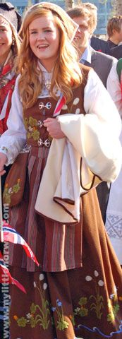 Northern Norway (Senja) traditional costume dress or Bunad