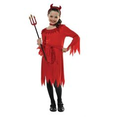 lil devil child s red devil halloween fancy dress costume medium 8 10 years - Partyland Halloween Costumes