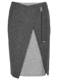 e shop jupe droite gris paul smith pour createurs sur place des tendances groupe printemps