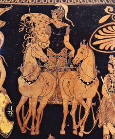 Cratere apulo a volute con Greci e Amazzoni e Ares, particolare, V a.C. Museo Archeologico Nazionale Jatta, Ruvo di Puglia. Cultura greca e magno-greca