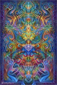 Holographic Alter by Fabian Jimenez , Art Print - Fabian Jimenez, Threyda