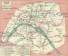Plan de 1930 : on passe à la vitesse supérieure avec cette carte plus détaillée. Certaines lignes sont rallongées et de nouvelles stations apparaissent.