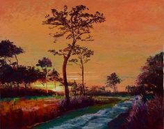 "Pine Island sunset by Tammy Cox Pastel ~ 11"" x 14"""