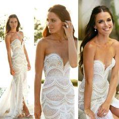 scalloped wedding dress