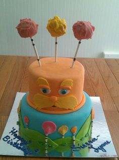 lorax+cake | Pinned by Nicole Trafton