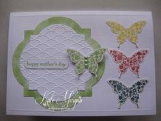 Stampin' Up! Elegant Butterfly, Windows Frames Collection Framelits Dies, Fancy Fan Embossing Folder