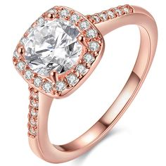 8ce8ece6d [Eternity Love] Women's Pretty Rose Gold Plated Princess Cut CZ Crystal Engagement  Rings Best Promise Rings for Her Anniversary Cocktail Arrow Wedding Bands  ...