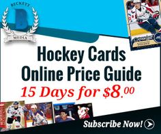 Subscribe Hockey Cards Online Price Guide 15 Days Web Subscription For $8