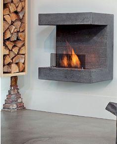 Bioethanol hanging #fireplace SALERNO by BRITISH FIRES