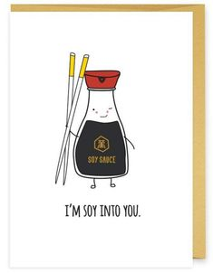 Cheesy Valentines Day Food Puns That Never Gets Out of Style I have compiled a list of cute Valentines Day food puns which can help you express your true feelings in a humorous way. Take a look at these cheesy puns! Funny Cards, Cute Cards, Diy Cards, Funny Greeting Cards, Badass Quotes, Cute Quotes, Funny Quotes, Food Quotes, Sushi Quotes