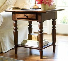 Tivoli Side Table - Tuscan Chestnut stain #potterybarn