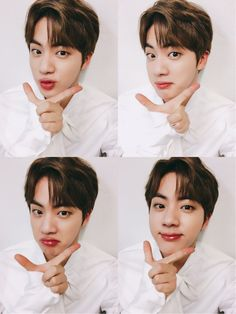 Jin showing why he's one of the visuals of BTS