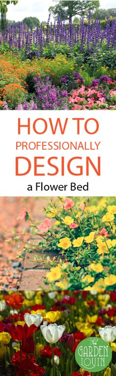 Flowers are a wonderful way to bring color, personality, and depth to your landscaping.   Learn how to design your flower bed! #fallflowergarden