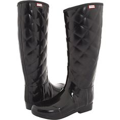 quilted hunter rain boots $175