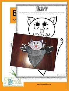 This is a cute and creative art and craft activity for your little ones! Students will enjoy making a scary black bat with handprint wings to help ...