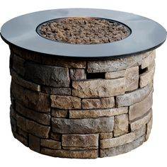 Shop Bond Bridge Canyon Ridge BTU Round Liquid Propane Gas Fire Pit Table at Lowe's Canada online store. Find Gas Fire Pits at lowest price guarantee. Outdoor Propane Fire Pit, Outdoor Fire, Outdoor Living, Outdoor Pergola, Outdoor Spaces, Outdoor Kitchens, Gazebo, Outdoor Decor, Fire Pit Table Lowes