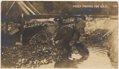Miner panning for gold, Nevada County (1908)