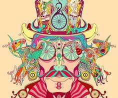 Check out these cool psychedelic illustrations by artist/graphic designer Douglas Bicicleta Art And Illustration, Illustrations, Psychedelic Art, Art Design, Graphic Design, Street Art, Silkscreen, Acid Art, Psy Art
